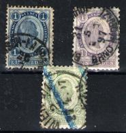 Austria Nº 57/8 Y 60. Año 1890/6 - 1850-1918 Imperium