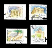 FRANCE 2004 -  YT  3718 à 3721 La Série  - Capitales Athènes  - Oblitérés - Usados