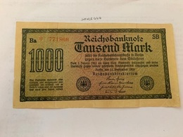 Germany 1000 Marks Banknote - [ 4] 1933-1945 : Third Reich