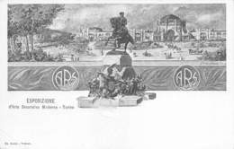 """0641 """"ESPOSIZIONE D'ARTE DECORATIVA MODERNA - TORINO - 1902"""" CART. ORIG. NON SPED. - Esposizioni"""