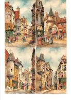 Lot 9 Cartes Illustrateur BARDAY . Paris & Vieux Paris. - Barday