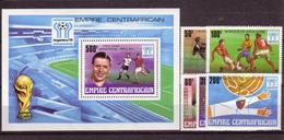 Soccer World Cup 1978 - Footbal - C.-AFRICA - S/S+Set Silv Ovp MNH - 1978 – Argentina