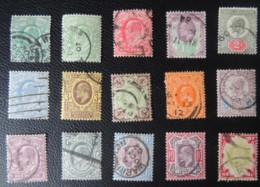 GREAT BRITAIN KEVII 1902-1913 FULL SET 1/2d - 1s (14 VALUES) USED GB - Used Stamps