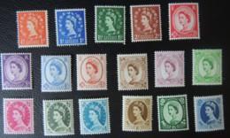 GREAT BRITAIN QEII 1958-65 WILDINGS MULTIPLE CROWN MNH SG570-586  GB - 1952-.... (Elizabeth II)