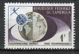 Cameroun 1963 Single 1f Stamp From The 1st Transatlantic Satellite Link Series. - Cameroon (1960-...)