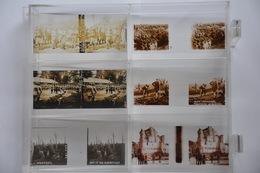 Collection Plaques De Verre Vues Stéréoscopiques 12 Boites 205 Vues - WW1 Armée Poilu France Guerre Militaria Gaz Tank - Plaques De Verre