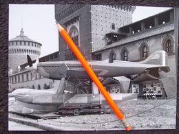 FOTOGRAFIA  IDROVOLANTE HYDRAVION MACCHI MC 72 Castello Sforzesco Milano - Luftfahrt