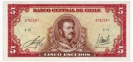 CHILE 5 ESCUDOS ND(1964) Pick 138 Unc - Chile