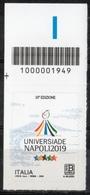 Italia Rep. 2019 - Universiade Napoli 2019 Codice A Barre MNH ** - 6. 1946-.. República