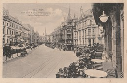 CPA  POLOGNE BEUTHEN BLICK VOM KAFFES HINDENBURG - Poland
