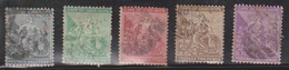 CAPE OF GOOD HOPE Scott # 41-4, 49 Used - Hope & Symbols Of The Colony - South Africa (...-1961)