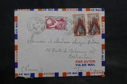 NOUVELLE CALÉDONIE - Enveloppe De Nouméa Pour La France En 1958, Affranchissement Plaisant - L 34596 - Nueva Caledonia