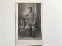 Foto AK Poilu Soldat Militair Uniform Regiment 36 Croix De Guerre Caen - Guerre 1914-18