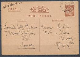 FRANCE - 7.4.1941, Carte Postale - 1921-1960: Modern Period