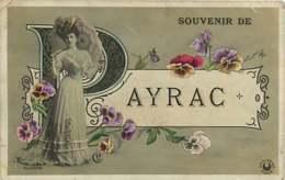 120719B - 46 LOT PAYRAC Souvenir De - Femme Ombrelle Pensée - Autres Communes