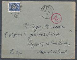 FRANCE - 18.7.1943, Lettre To Gemeinschaftslager Kreis-Zeschen Germany - 1921-1960: Modern Period