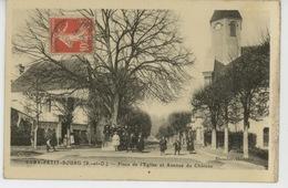EVRY PETIT BOURG - Place De L'Eglise Et Avenue Du Château - Evry