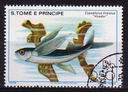 St Thomas & Prince Islands 1980 Single 50c Stamp From The Fish Series. - Sao Tome And Principe
