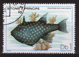St Thomas & Prince Islands 1980 Single 1Db Stamp From The Fish Series. - Sao Tome And Principe