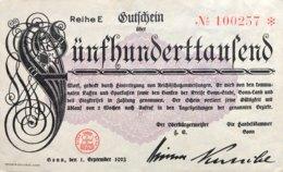 Germany/City Of Bonn 500.000 Mark, (1.9.1923) - EF/XF - [11] Emissioni Locali