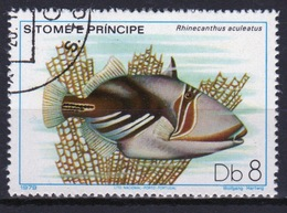 St Thomas & Prince Islands 1980 Single 8Db Stamp From The Fish Series. - Sao Tome And Principe