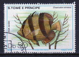 St Thomas & Prince Islands 1980 Single 50Db Stamp From The Fish Series. - Sao Tome And Principe