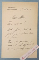 L.A.S Circa 1920 Général Louis Ernest De MAUD'HUY Député De Moselle Né à Metz Lettre Autographe Politique LAS - Autógrafos
