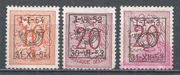 Belgium 1952-54. Lot#10 (U) Lion Rampant * Precanceled - Typo Precancels 1951-80 (Figure On Lion)
