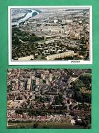 78 Yvelines Poissy Vue Aerienne Lot De 2 Cartes Postales - Poissy