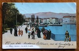 GENEVE  LE JARDIN ANGLAIS  1/8/1907  CON 10 C. Per L'estero - Switzerland