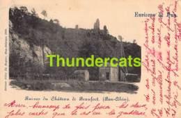 CPA 1899 ENVIRONS DE HUY RUINES DU CHATEAU DE BEAUFORT BEN AHIN - Huy