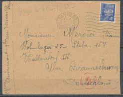 FRANCE - 9.1.1943, Lettre  PARIS - HALLENDORF, Lager 25, Germany - 1921-1960: Modern Period