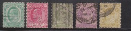 CAPE OF GOOD HOPE Scott # 63-4, 68-70 Used - KEVII Definitives - South Africa (...-1961)