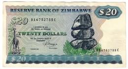 Zimbabwe 20 Dollars 1983 *L* - Zimbabwe