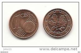 1 Cent, 2012, Prägestätte (F) Vz, Sehr Gut Erhaltene Umlaufmünze - Deutschland