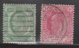 CAPE OF GOOD HOPE Scott # 63-4 Used - KEVII Definitives - South Africa (...-1961)