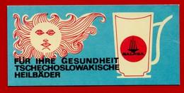 SMALL CALENDAR FUR IHRE GESUNDHEIT TSCHECHOSLOWAKISCHE HEILBADER 1972 AK104-12 - Calendarios