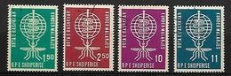 ALBANIE    -   1962.   Y&T N° 569 à 572 Oblitérés.  Malaria  /  Paludisme  /  Moustique.  Série Complète. - Albanie