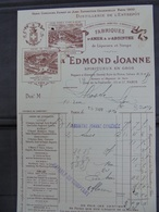 PARIS, ABSINTHE : EDMOND JOANNE - PARIS 1905 - PETITE FACTURETTE - DECO - France