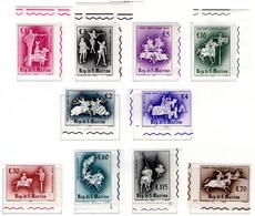 1963 - SAINT-MARIN - SAN MARINO - Catg. Unif. 632/641 - NH - (SM2017.20...) - Nuevos