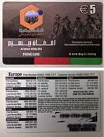 AFGHANISTAN___rare Calling Card €5___Afghan Wireless Remote Memory Card - Afghanistan