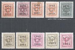 Belgium 1954-64. Lot#11 (U) Lion Rampant * Precanceled Dated - Typo Precancels 1951-80 (Figure On Lion)