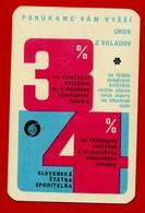 SMALL CALENDAR PONUKAME VAM VYSSI UROK Z VKLADOV 1972 AK104-25 - Calendarios