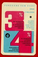 SMALL CALENDAR PONUKAME VAM VYSSI UROK Z VKLADOV 1972 AK104-27 - Calendarios