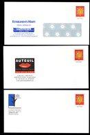 ANDORRA ANDORRE Superbe Lot 5 PAP Différents Prêt à Poster Armoiries 2 Barres PHOSPHO A GAUCHE Du Timbre Figuré  ** LUXE - Entiers Postaux & Prêts-à-poster