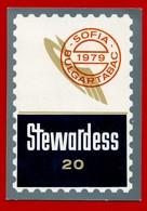 SMALL CALENDAR STEWARDESS 20 1979 AK104-26 - Calendarios