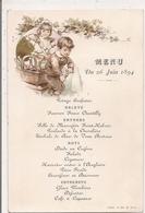 Menu Du 26 Juin 1894  -   Enfants, Repas - Menu