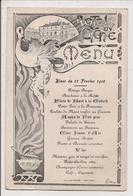 Menu Du 22 Février 1906 -  Hôtel Du Cygne (Imp. Léon Mathieu à  Saint-Mihiel) - Menú