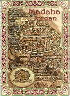 Madaba Mosaic Map,Umayyad Mosaics, Postcard Jordan Sent To Andorra, With Arrival Postmark - Jordanie
