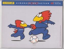 RARE - FOOTBALL FRANCE Coupe Du MONDE 1998 Calendrier Spécial Du Facteur Représentant Les 10 Stades De France - Calendars